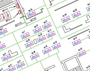 Услуга Проектирование электроснабжения офисного помещения 1200 м²